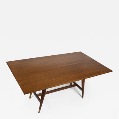 Gio Ponti Gio Ponti Convertible Console Dining Table for M Singer Sons in Walnut 1950