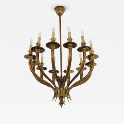 Gio Ponti Gio Ponti Designed Twelve Light Chandelier