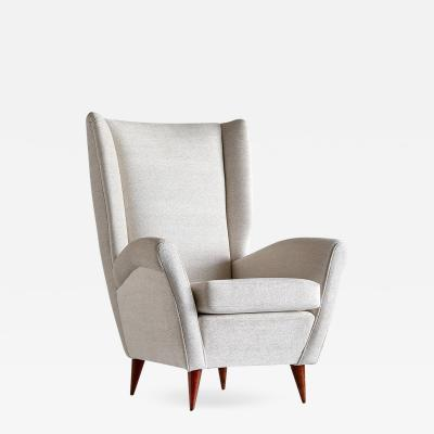 Gio Ponti Gio Ponti High Back Armchair Late 1940s