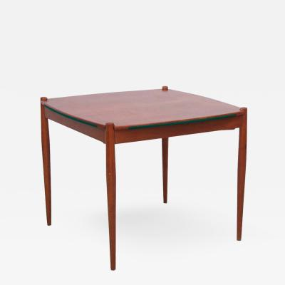 Gio Ponti Gio Ponti Mahogany Wood Poker or Dining Table Made by Fratelli Reguitti