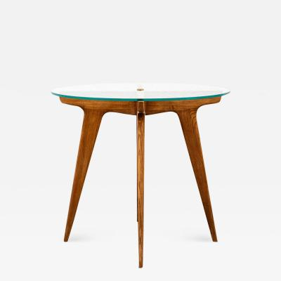 Gio Ponti Gio Ponti Maple And Glass Circular Table