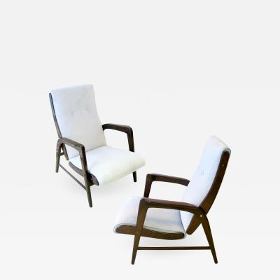 Gio Ponti Gio Ponti Pair Armchairs from the Hotel Paradiso del Cevedale