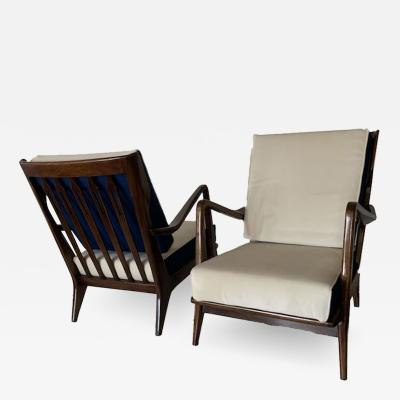Gio Ponti Gio Ponti Pair of Club Chairs Model n 516