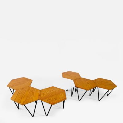 Gio Ponti Gio Ponti Set of Seven Modular Coffee Tables for I S A Italy circa 1950