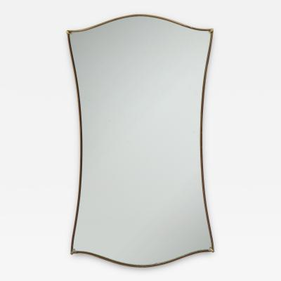 Gio Ponti Gio Ponti Shaped Brass Mirror with Original Glass