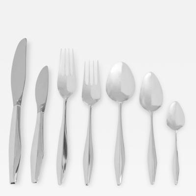 Gio Ponti Gio Ponti Sterling Diamond Flatware Service for 12 w Serving Pieces