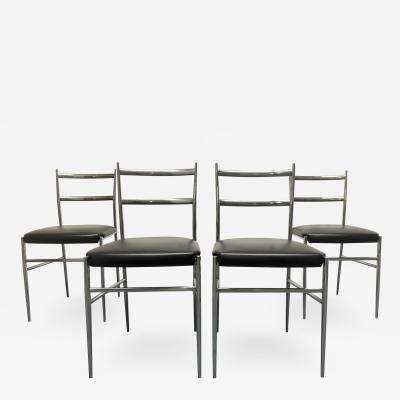Gio Ponti Gio Ponti Style Italian Chrome Chairs