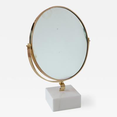 Gio Ponti Gio Ponti Vanity Mirror Fontana Arte on White Carrara Marble Block 1955