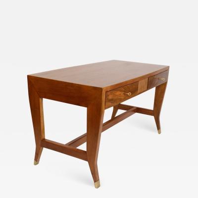 Gio Ponti Gio Ponti Walnut Desk Italy c 1950