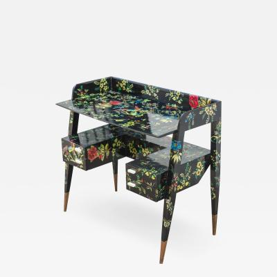 Gio Ponti Gio Ponti and Piero Fornasetti Desk Decorated with the Coromandel Pattern