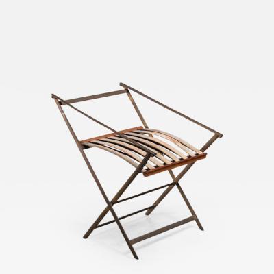 Gio Ponti Gio Ponti foldable brass chair Italy 1950s