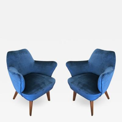 Gio Ponti Gio Ponti for Cassina Armchairs with Expertise from the Archives