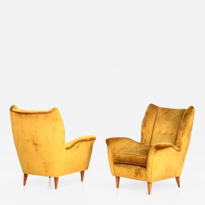 Gio Ponti Gio Ponti pair of armchairs 1940 for isa bergamo