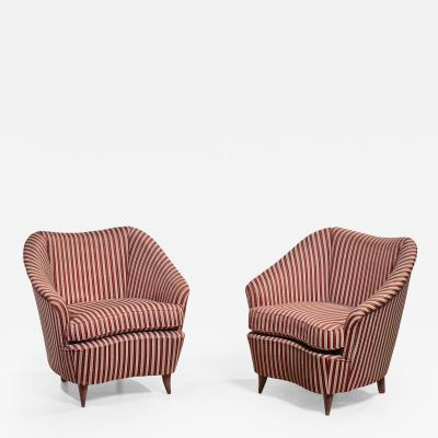 Gio Ponti Gio Ponti pair of lounge chairs Italy 1940s