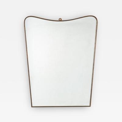 Gio Ponti Gio Ponti style Brass mirror Italy 1950s