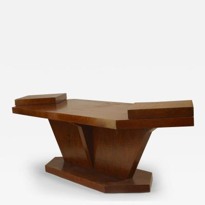 Gio Ponti Italian 1950s Burl Birch Rectangular Conference Table