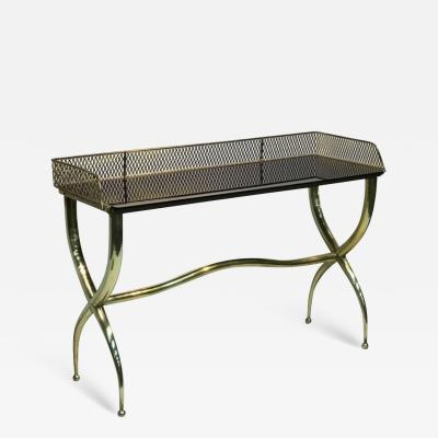 Gio Ponti Italian Brass Console Table in the Manner of Gio Ponti