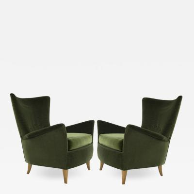 Gio Ponti Italian Lounge Chairs Gio Ponti for the Hotel Bristol Merano circa 1950s