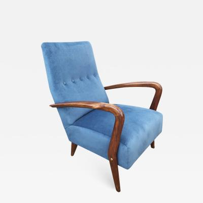 Gio Ponti Italian Mid Century Armchair in the Manner of Gio Ponti