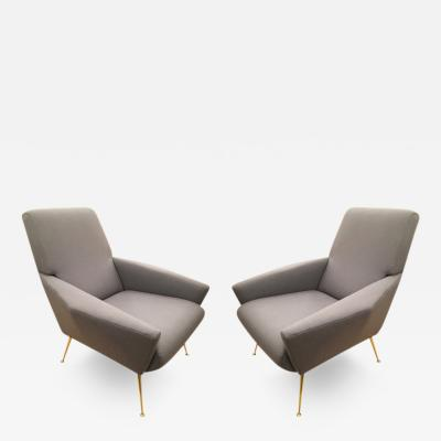 Gio Ponti Italian Mid Century Lounge Chairs in the Manner of Gio Ponti