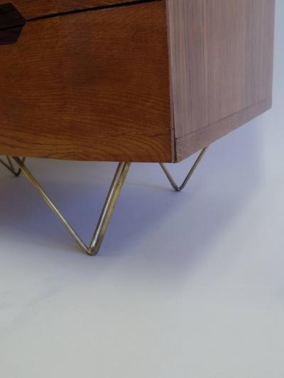 Gio Ponti Italian Mid Century Modern Commodes Chest of Drawers Circle of Gio Ponti Pair