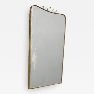 Gio Ponti Italian MidCentury Mirror attributed to Gio Ponti in brass 1950s