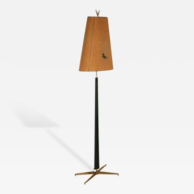 Gio Ponti Italian Modern Rosewood and Brass Floor Lamp Gio Ponti
