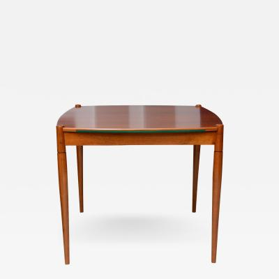 Gio Ponti Italian Modern Walnut Game Table by Gio Ponti for Singer Sons
