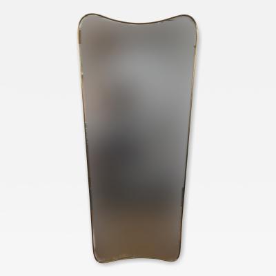Gio Ponti Large Single Brass Mirror by Gio Ponti