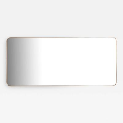 Gio Ponti Large Vintage Italian Design Brass Mirror