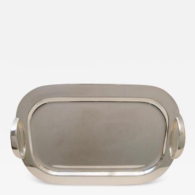 Gio Ponti Lino Sabattini Mid Century silver plated tray by Lino Sabattini