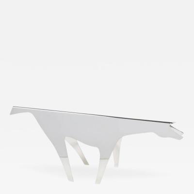 Gio Ponti Lino Sabattini Silver Plate Horse Sculpture Titled Cavallo by Gio Ponti Lino Sabattini