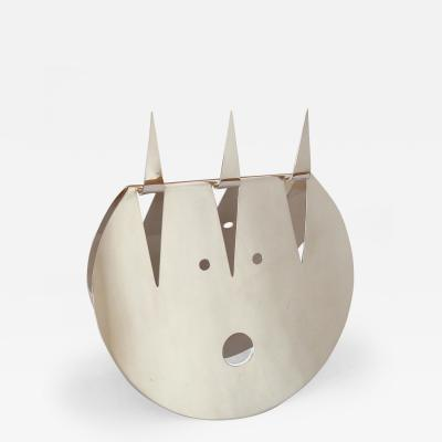 Gio Ponti Lino Sabattini Silvered Metal Devils Face