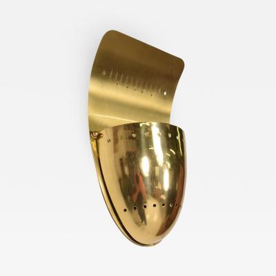 Gio Ponti Mid Century Modern Brass Shield Sconce after Gio Ponti