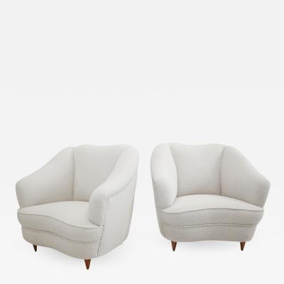 Gio Ponti Mid Century Modern Gio Ponti Pair of Italian Armchairs for Casa e Giardino