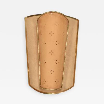 Gio Ponti Mid Century Modern Shield Sconce Italian Modernist