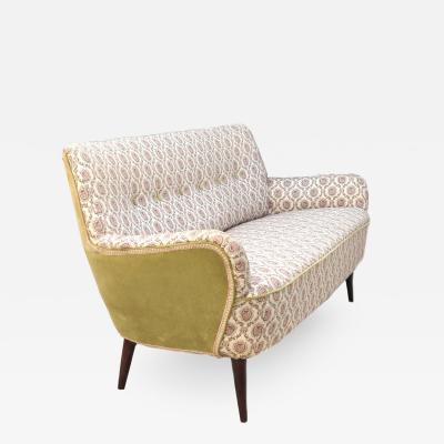 Gio Ponti Mid Century Modern Sofa Loveseat Love Seat Settee Manner of Gio Ponti