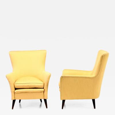 Gio Ponti Pair of 50s armchairs attributed to Gio Ponti for ships
