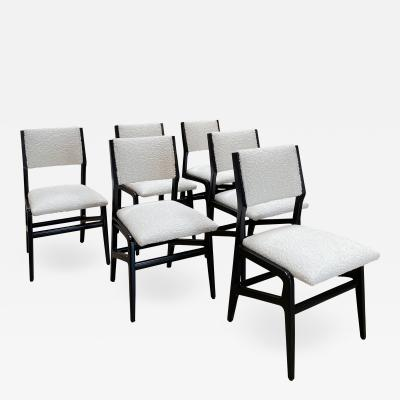 Gio Ponti Pair of 6 Dining Chairs Attributed to Gio Ponti Italy 1960