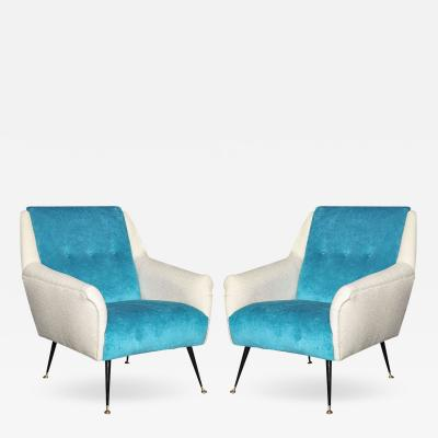 Gio Ponti Pair of Arm Chairs by Gio Ponti Made in Milan 1955