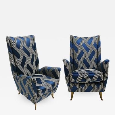 Gio Ponti Pair of Armchairs Designed by Gio Ponti