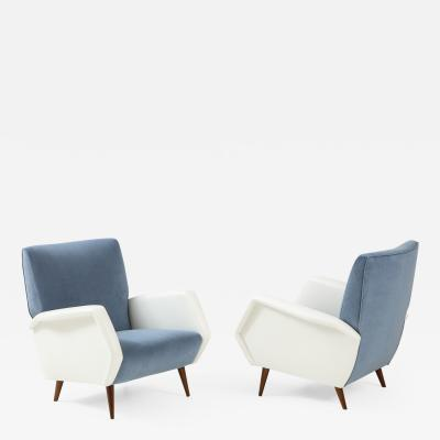 Gio Ponti Pair of Armchairs Model 803