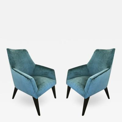 Gio Ponti Pair of Armchairs in the Manner of Gio Ponti