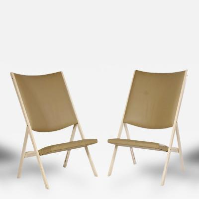 Gio Ponti Pair of Gabriella Folding Chairs by Gio Ponti