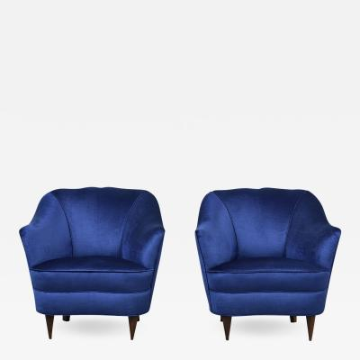Gio Ponti Pair of Gio Ponte for Casa e Giardino Lounge Chairs
