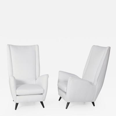 Gio Ponti Pair of Gio Ponti Armchairs