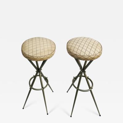 Gio Ponti Pair of Gio Ponti Bar Stools