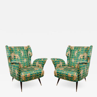 Gio Ponti Pair of Gio Ponti Club Chairs