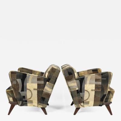 Gio Ponti Pair of Gio Ponti Style Lounge Chairs