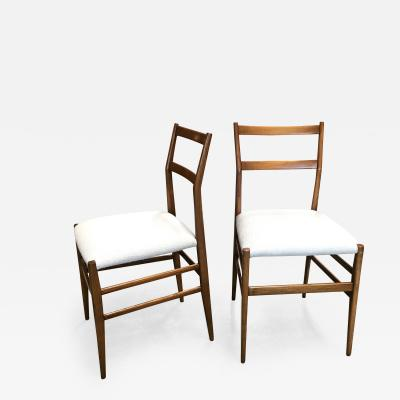 Gio Ponti Pair of Gio Ponti SuperLeggera Dining Chairs